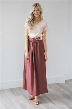 Burnt Mauve Maxi Skirt