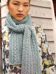 FREE Debbie Bliss Scarf knitting pattern - available to download at LoveKnitting