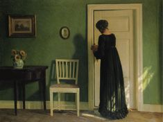 Karl Harald Alfred Broge - Morning Sunlight [1919] by Gandalf Via Flickr: Karl Harald Alfred Broge (1870 - 1955) was a Danish painter. [Sotheby's, London - Oil on canvas, 58.5 x 77 cm]