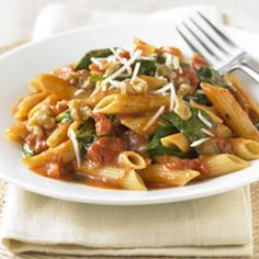 Noodles and Company Copycat Recipes: Tomato, Spinach, and Red Onion Penne (use brown rice pasta) Date Night Recipes, Dinner Recipes, Dinner Ideas, Meal Ideas, Yummy Recipes, Recipies, Heart Healthy Recipes, Vegetarian Recipes, Healthy Food