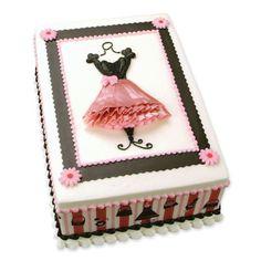 French Dress Birthday Cake
