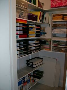 Organized by Terri  Before After office supply closet Office organization scarlet5204 Pinterest
