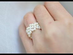 How to make a continious bead daisy flower ring or bracelet, My Crafts and DIY Projects