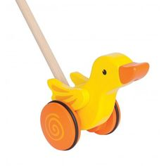 Hape Walking Duck `One size Age : 12 months and upwards * Fabrics : Wood, Plastic * Height : 56,5 cm, Length : 13 cm, Width : 9,8 cm. http://www.MightGet.com/january-2017-13/hape-walking-duck-one-size.asp
