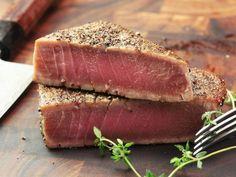 5 Sous Vide Seafood Recipes for Perfect Lobster, Shrimp, and Fish — Serious Eats Tuna Steak Recipe Asian, Tuna Steak Recipes, Seafood Recipes, Cooking Recipes, Lasagna Recipes, Serious Eats, How To Cook Tuna, Seared Tuna, Tuna Steaks