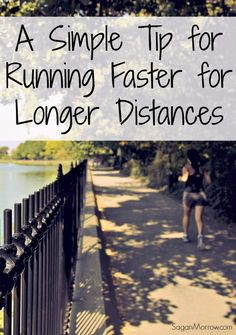 Find out this simple tip for running faster, for longer distances... this trick will help you run faster & farther than before! ~ running tips ~ fitness tips