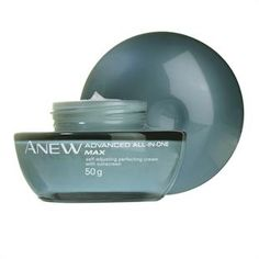 My favourite cream:  Anew Advanced All-In-One MAX Self-Adjusting Perfecting Cream (with sunscreen)  Anti-ageing cream with AHAs leaves skin smoother, more rejuvenated with the look of lines and pores dramatically reduced.  Use: Daily, AM after cleansing. 50g