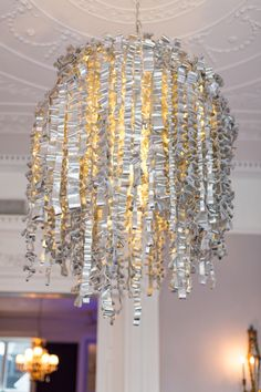 Chandelier in the private dining area at Cliff Townhouse, St. Saint Stephen, Wedding Reception Venues, Cliff, Dining Area, Townhouse, Chandelier, Ceiling Lights, Weddings, Luxury