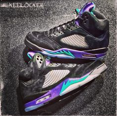 #SkeeLocker 166/365: Air Jordan V Black Grape. More limited than a lot of people knew (compared to other recent retros). Did u get yours?