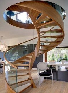 Spiral staircase design is perfect solution for saving space in small house. Browse our gallery with huge collection of modern, classic and minimalist spiral staircase.