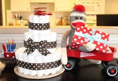 A Sock Monkey Baby Shower for 100 Dollars ♥
