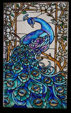 Stained Glass Painting for mom & Dad, 2010 L. Scheel.