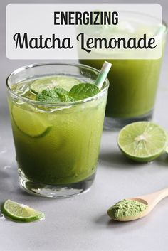 Matcha Green Tea Lemonade is energizing, and refreshing. - - Matcha Green Tea Lemonade is energizing, refreshing, and delicious. The perfect drink for spring and summer, Matcha Green Tea Lemonade is great for you! Juice Smoothie, Smoothie Drinks, Smoothie Recipes, Matcha Smoothie, Drink Recipes, Juice Recipes, Green Tea Lemonade, Healthy Drinks, Healthy Recipes