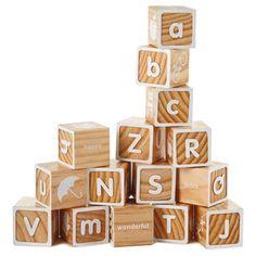 Wood Alphabet Block Set,