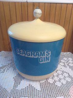 Seagram's Gin Ice Bucket, ice bucket, vintage ice bucket, vintage container by MaggieBleus on Etsy