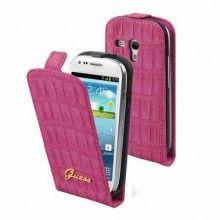 Forro Samsung Galaxy S3 Mini Guess Flipper Croco - Rosa  Bs.F. 218,58