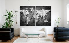 Push pin world map canvas world map poster pinboard push pin world world map poster wall art canvas print push pin map travel gifts world gumiabroncs Images