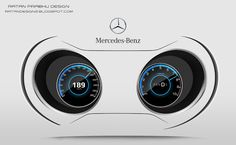 RATANDESIGNZ: Mercedes Benz Instrument Cluster Design Concept