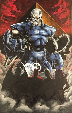 Apocolypse and Horseman by Mike Mez Phillips Comic Book Characters, Comic Book Heroes, Marvel Characters, Comic Character, Comic Books Art, Comic Art, Marvel Villains, Marvel Heroes, Marvel Vs
