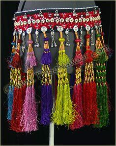 Tribe Nawaar Royal Tassel Belt 4 Colorful Silk Tasseled Tribal Belly Dance Belt