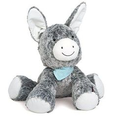 """Super Floppy Loveable 18"""" Grey Donkey by French Baby Company #Kaloo. Such a cute addition to any #Nursery #OrangeCounty #NewportBeach #OnlineBabyBoutique #baby #babygifts #toddler #baby #babygift #babyshower"""