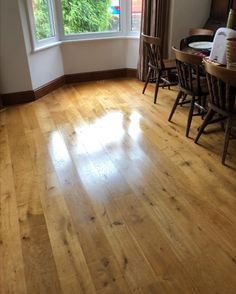 We Re Oiled The Customeru0027s Existing Wood Flooring In The Lounge/dining Area.