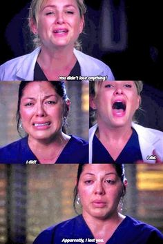 (Image from Twitter.) Oh, that face breaks my heart! I could go on for hours about this scene. (I have been IRL) SO infuriating! I don't ship Callie and Arizona. Arizona needs to transfer to another hospital. I ship a decent relationship for Callie. Third time BETTER be a charm, writers.