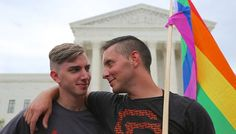 """The US Supreme Court has ruled that same-sex marriage is a legal right across the United States. It means the 14 states with bans on same-sex marriage will no longer be able to enforce them. Justice Anthony Kennedy wrote that the plaintiffs asked 'for equal dignity in the eyes of the law. The Constitution grants them that right.'""  Find out more on BBC: http://www.bbc.co.uk/news/world-us-canada-33290341"