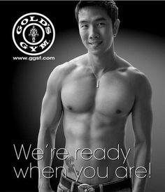Golds Gym Asian Guys, Asian Men, 12 Week Challenge, Gold's Gym, Gym Logo, Perfect Man, Male Body, Bodybuilding, Athlete