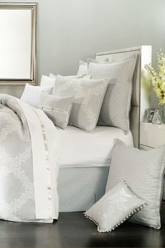 Acanthus Arbor Comforter Set - Grey (think I need to re-do my bedroom in grey & yellow)