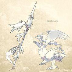 No. 643 - Reshiram. #pokemon #reshiram #chargespear #天国の槍 #pokeapon
