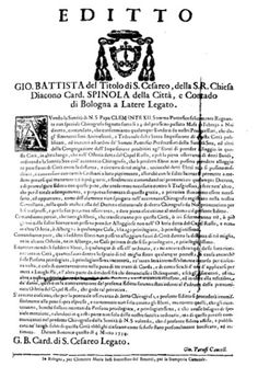 Editto, 1714.