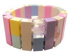 Kawaii Pastel bracelet  made from LEGO R by MademoiselleAlma #MademoiselleAlma #LEGO #ETSY