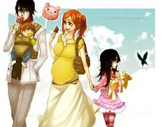 Ulquiorra Schiffer and Inoue Orihime - Bleach. I don't know why but I think this is really cute