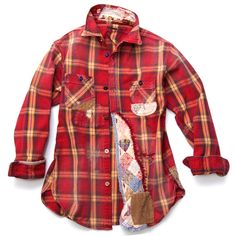 Kapital - Flannel Shirt Damaged - Red
