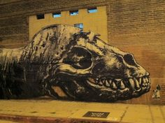 ROA, off Imperial Street, Los Angeles (shot at night)