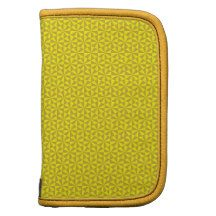 Golden and yellow triangles pattern organizer