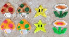 Original jeu de Super Mario Bros Powerups Perler Bead