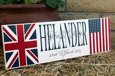 Perfect for the new house...Union Jack Decoration American Flag Decor by ItsASignAndDesigns, $41.00