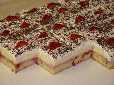 Zákusok pre tých ktorý majú radi jemné, osviežujúce zákusky,nepresladené a rozplývajúce sa na jazýčku. Dá sa robiť s akýmkoľvek ovocím.Ale jahodky sú najlepšie. Yummy Treats, Delicious Desserts, Sweet Treats, Dessert Recipes, Cake Recipes, Czech Recipes, Ethnic Recipes, Peach Salsa, Party Food And Drinks