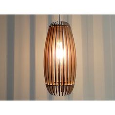 laser cut wooden lamp - woodshades - Lamello