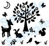 forest kids room decor - Google Search