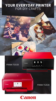 """Introducing the PIXMA TS Wireless Inkjet printers from Canon—the all-in-one home printer that does it all. Print vibrant, high-resolution images — even Instagram photos — directly from your printer. Choose from a variety of traditional paper sizes, ranging from 4"""" x 6"""" to 8"""" x 10,"""" and special paper types, including fine art paper, so you'll always be ready for your next DIY craft. Click to find the right printer for you today."""