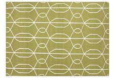 Cerro Flat-Weave Rug, Wasabi/Linen on OneKingsLane.com