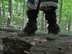 Thorin Fur Boot Covers / Viking Leggings by FolkOfTheWoodCrafts, $67.00