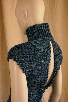 crochetmestres crochetmes3: Vestido azul cobalto