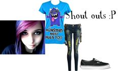"""Shoutouts :P"" by cat-thames on Polyvore"