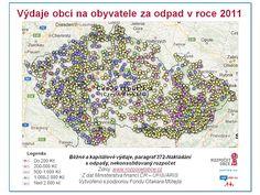 www.rozpocetobce.cz - Výdaje obcí na obyvatele za odpady v roce 2011