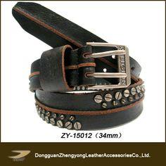 ( zy-- 15012) مسامير الحقيقي حزام جلد طبيعي، مسامير برغي للحزام من الجلد