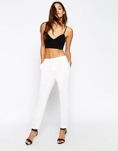 ASOS Cigarette Trousers In Crepe